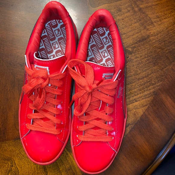 Puma Shoes   Pumas Red Leather Shoes